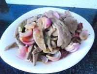 家常菜滑炒猪肝