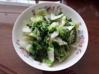 家常菜清炒奶白菜