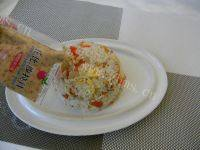 诱人的沙拉炒饭