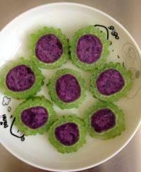 自制紫薯苦瓜圈