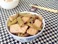 自制肉片焖豆角