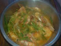 家常菜萝卜丝炖虾