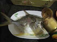 美味的蒸鲳鱼