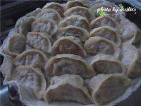 自己做的香菇猪肉蒸饺