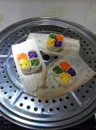 喷香的四喜蒸饺