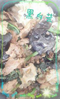 家常菜黑白菜
