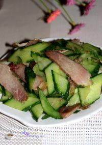 家常菜黄瓜炒腊肉