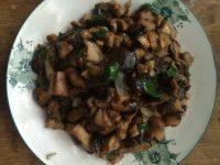 下酒菜香菇炒肉