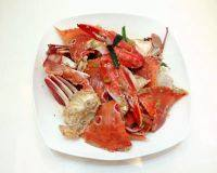 美味的姜葱炒花蟹