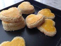 色泽不错的椰蓉酥饼
