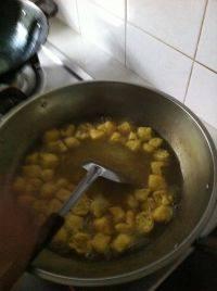 美味的咖喱牛肉粉丝汤