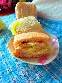 好吃的鸡蛋三明治