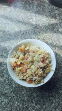 美味的杏鲍菇蛋炒饭