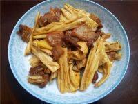 健康美食-腐竹炒肉