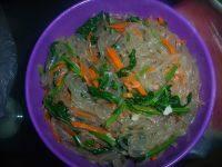 家常菜菠菜拌粉条