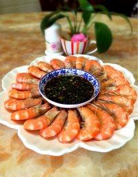 美味的白灼虾