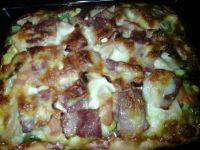 很有食欲的培根披萨
