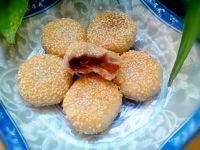 自制红糖芝麻饼