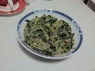 自己做的菠菜拌粉条