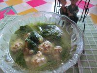 美味的小白菜丸子汤