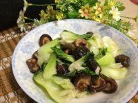可口的香菇炒油菜