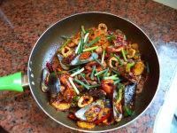 美味的海鲜麻辣香锅