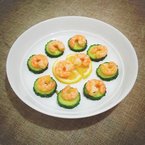 柠香虾仁青瓜片