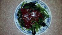 家常菜麻酱拌菠菜
