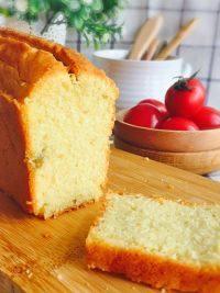 自己做的柠檬磅蛋糕