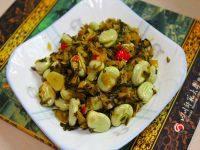 开胃雪菜炒蚕豆