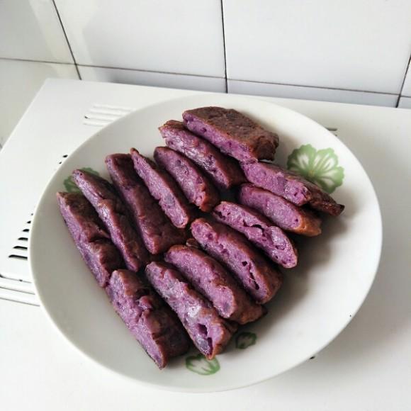 紫薯鸡蛋饼