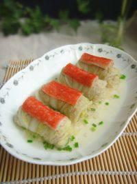 家常菜蟹柳白菜卷
