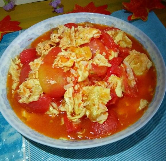 香气浓郁的番茄炒鸡蛋