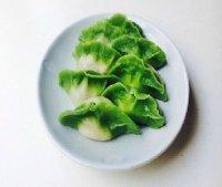自己做的翡翠白菜饺