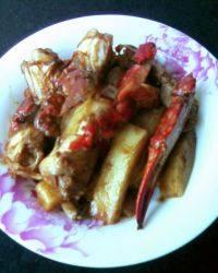 美美厨房之梭子蟹炒年糕