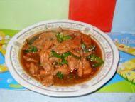 飘香的青椒炒肉片