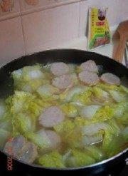 香气浓郁的白菜炖猪肉条