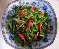 家常菜韭苔炒肉丝