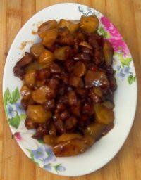 在家做的红烧肉炖土豆