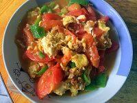家常的西红柿炒鸡蛋