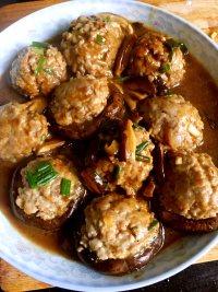 喷香的香菇酿肉