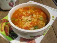 美味的西红柿蛋花汤