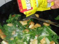小白菜煎豆腐