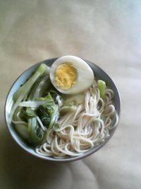 简单版青菜鸡蛋面