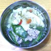 美味的秋葵鸡蛋汤