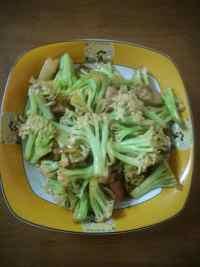 家常菜有机菜花炒肉