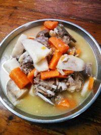 养生的山药羊肉汤