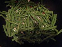 绿色食物清炒豆角