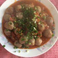 家常菜茄汁牛肉丸