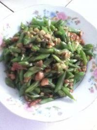 家常菜肉末四季豆
